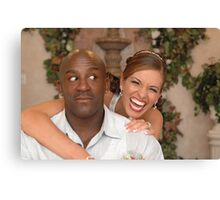 The Groom and His Fiesty Bride II Canvas Print