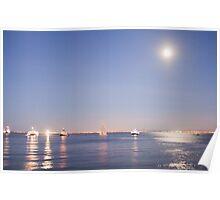 Lisbon moonlight Poster