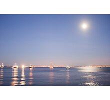 Lisbon moonlight Photographic Print