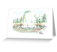 Fairway Fountain Greeting Card
