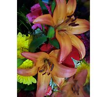 A BOUQUET OF FLOWERS Photographic Print