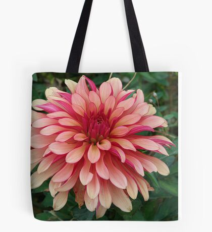 Two Tone Dahlia Tote Bag