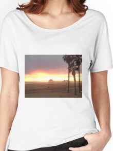 Pier at Sunset, Huntington Beach, California Women's Relaxed Fit T-Shirt