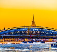 Bridge and Moscow State University by luckypixel