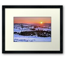 Winter Sunset on The Helm, Kendal - Cumbria Framed Print