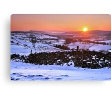 Winter Sunset on The Helm, Kendal - Cumbria Canvas Print