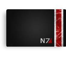 Mass Effect N7 armor-style Canvas Print