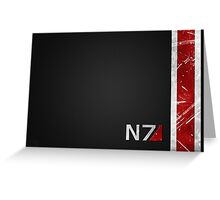 Mass Effect N7 armor-style Greeting Card