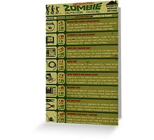 Zombie Defense Guide Greeting Card