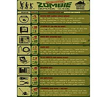 Zombie Defense Guide Photographic Print