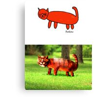 Amber's Cat (Monster Engine Style) Canvas Print