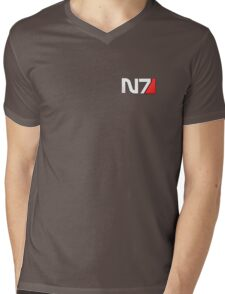 N7 Mass Effect Mens V-Neck T-Shirt