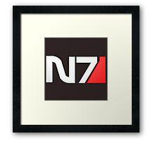 N7 Mass Effect Framed Print