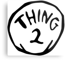 Thing one, thing two. Funny for couples Metal Print