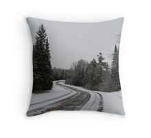County Road D Throw Pillow