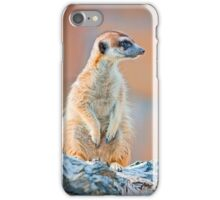 Alert Suricate or Meerkat Suricata standing to lookout iPhone Case/Skin