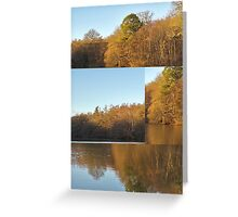 Autumn Reflections Mash Up  Greeting Card