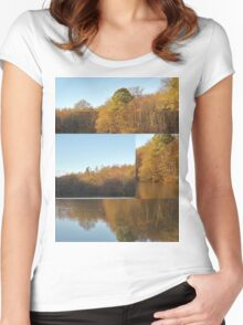 Autumn Reflections Mash Up  Women's Fitted Scoop T-Shirt