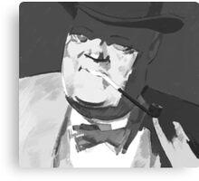 Mafia boss with tobacco pipe Canvas Print