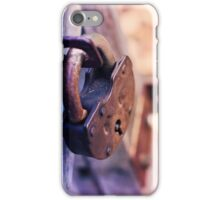 Lock on Fence for Security iPhone Case/Skin