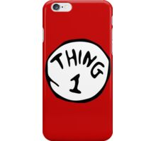 Thing 1 and thing 2 Couple iPhone Case/Skin