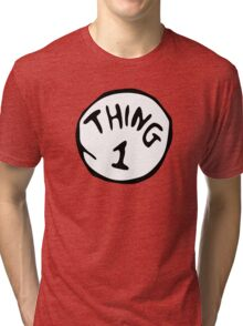 Thing 1 and thing 2 Couple Tri-blend T-Shirt