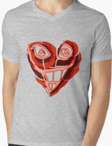 smiling heart Mens V-Neck T-Shirt