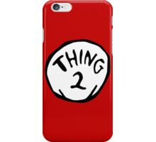 Thing one, thing two. Funny for couples iPhone Case/Skin