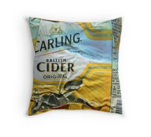 Carling Cider - Crushed Tin Throw Pillow