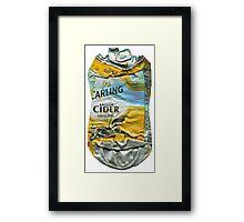 Carling Cider - Crushed Tin Framed Print