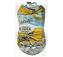 Carling Cider - Crushed Tin Poster