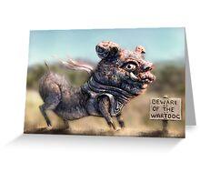 Wartdog Greeting Card