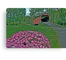 Covered Bridge in HDR Canvas Print