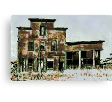 Old Hotel and Saloon. Beltrami County, Funkley, Minnesota - all products Canvas Print