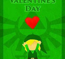 Legend of Zelda Valentines Day Card by Nicole Mule'