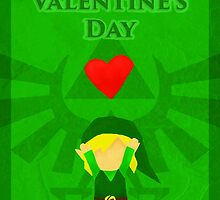 Legend of Zelda Valentines Day Card by Nicole Mule'