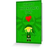 Legend of Zelda Valentines Day Card Greeting Card