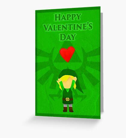 Legend of Zelda Valentines Day Card Greeting Card