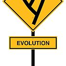 Evolution road sign by colinpurrington