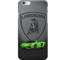 Green Lamborghini Aventa iPhone Case/Skin