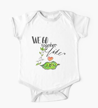 We Go Together like Peas in a Pod One Piece - Short Sleeve