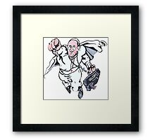 Pope Francis Superhero Framed Print
