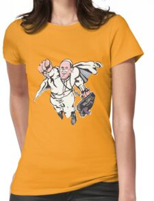 Pope Francis Superhero Womens Fitted T-Shirt