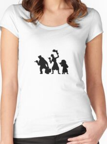 Haunted Mansion Hitchhiking Ghosts T-shirt & iPad Case Women's Fitted Scoop T-Shirt