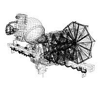 Lightspeed Spaceship Photographic Print