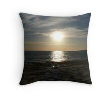 Even the seas were calm at the sound of His voice Throw Pillow