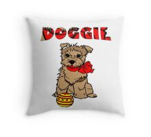 Doggie-kids Clothing+Products Design Throw Pillow