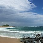 Nobby's Beach and Lighthouse, Newcastle, NSW Australia by GeorgeOne