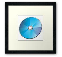 A blank CD or DVD Framed Print