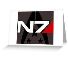 N7 Mass Effect, Alliance of the systems Greeting Card